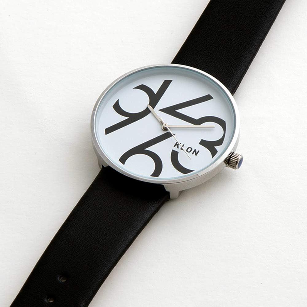 腕時計 メンズ ブラック 人気 ブランド 防水 レザー おしゃれ レディース ユニセックス ペアウォッチ ペア 黒 KLON QUARTER TIME BLACK 40mm (ブラック) fba