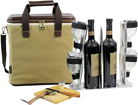 Wine Bottle Bag Waterproof Luxury Bag Single Champagne Tote Carrier Cover Gift
