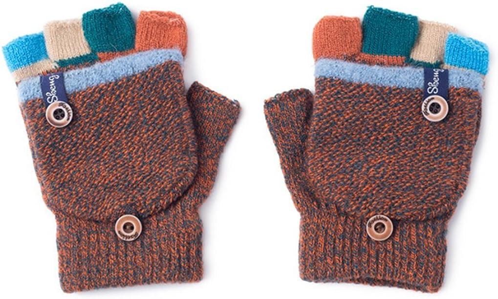 3-8 ans Pormow dautomne et dhiver gants chauds pour b/éb/é mitaines tricot/ées