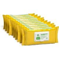 CalenduflorBaby Toallitas húmedas Bebé Mama Natura, Biodegradables con Extracto Calendula officinalis. 10 packs x 72 uds…