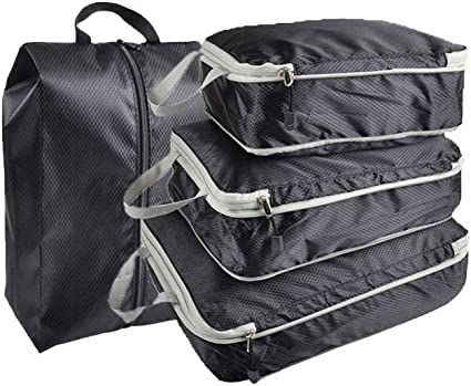 4PCS Waterproof Clothes Travel Storage Bags Packing Cube Luggage Organizer Pouch