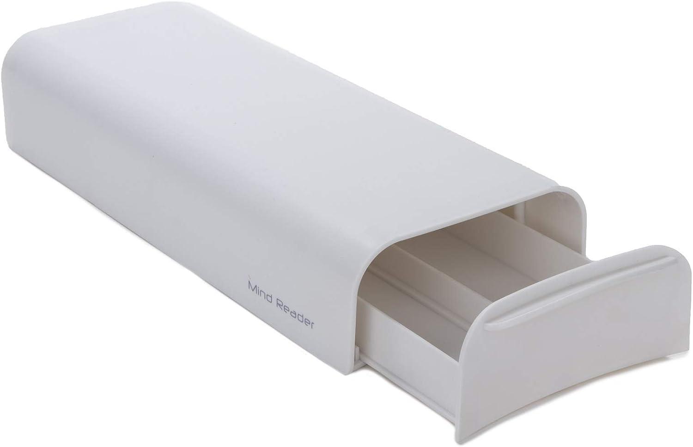 color blanco Mind Reader TRAY6-WHT Caj/ón para c/ápsulas de caf/é con capacidad de 36 unidades