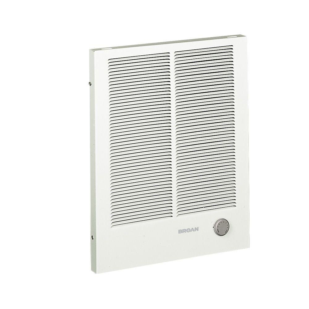 Broan 198 High Capacity Wall Heater, 2000/4000 Watt 240 VAC, White Painted Grille