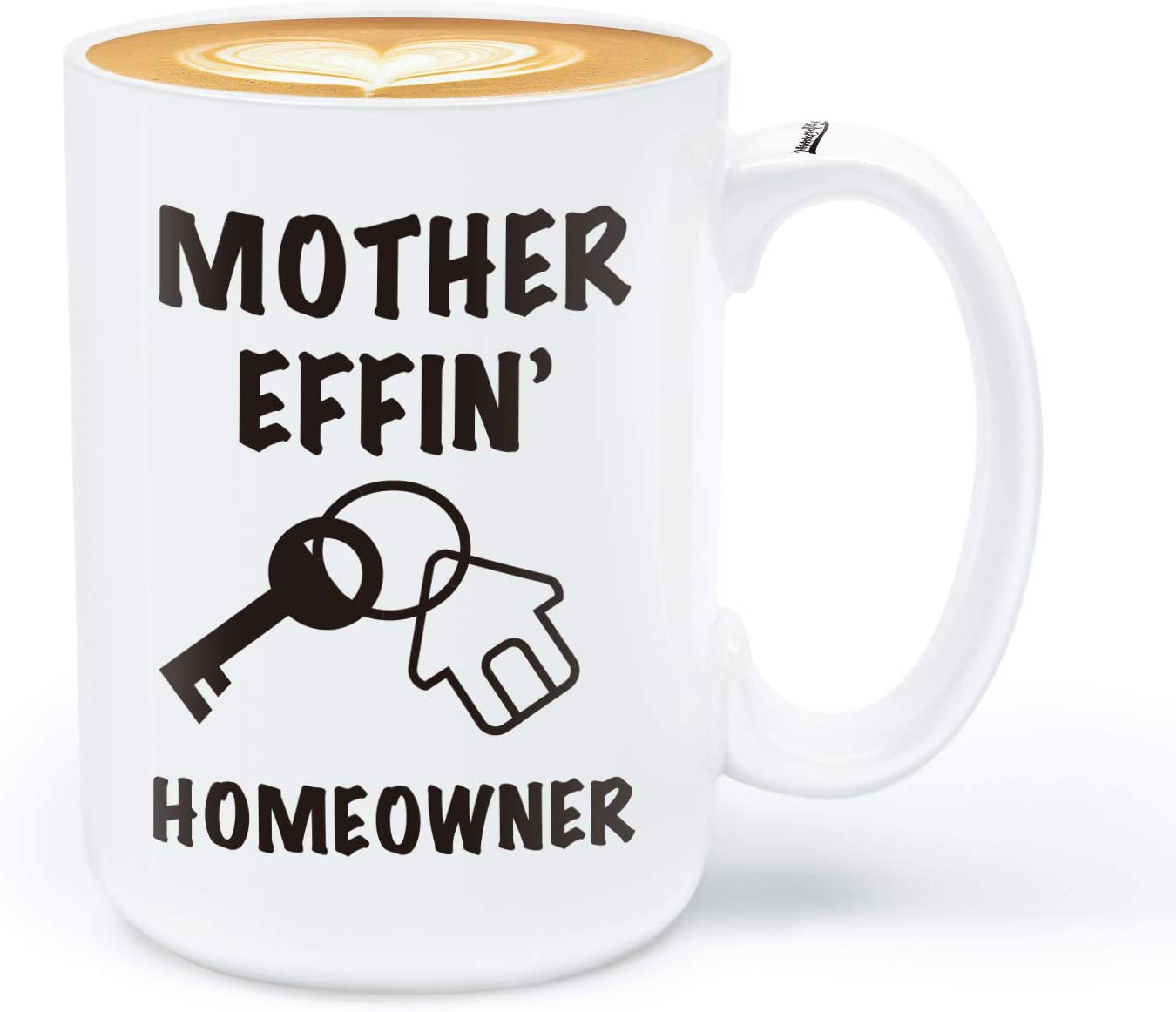 Housewarming Gifts for New Homeowner - Mother Effin Homeowner - 15Oz Funny Coffee Mug for New First Time Home Owner Present