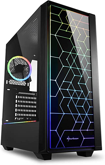 Sharkoon RGB LIT 100 - Caja de Ordenador, PC Gaming, Semitorre ATX, Negro: Amazon.es: Informática