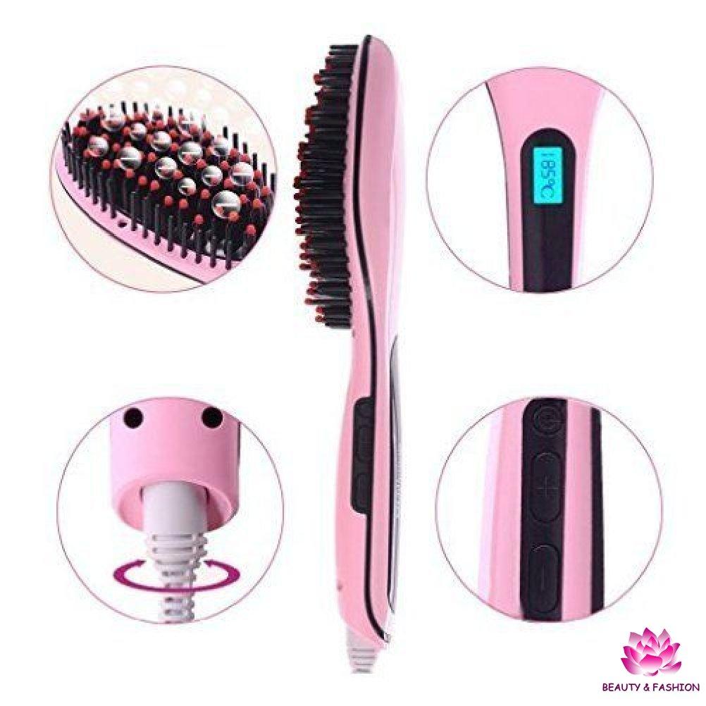 Electrotek ET-BS230 - Cepillo alisador profesional, color rosa