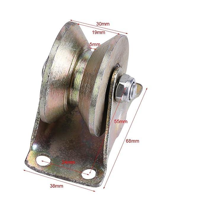 Amazon.com - V Groove Wheel for Sliding Gate,Acoggedor 2 inch Sliding Gate Roller,Rigid Caster for Gate Frame,Wheel Track Rail Sliding Door Roller with ...
