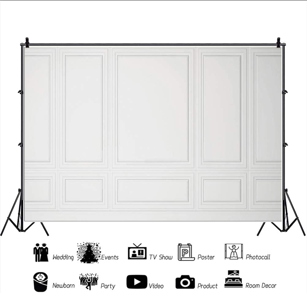 YEELE 10x8ft Palace Interior Backdrop White Interior Wall Photography Background Church Service Wedding Bridal Shower Kids Adults Portrait Photo Booth Studio Props Digital Wallpaper