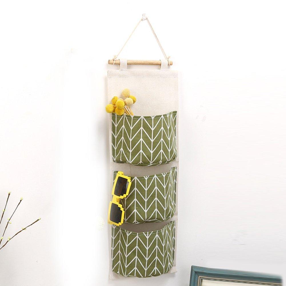 borsa organizer Borsa organizer con tre tasche nell/'armadio borsa portaoggetti con tasche custodia Green portaoggetti organizer per la casa da appendere al muro alla porta