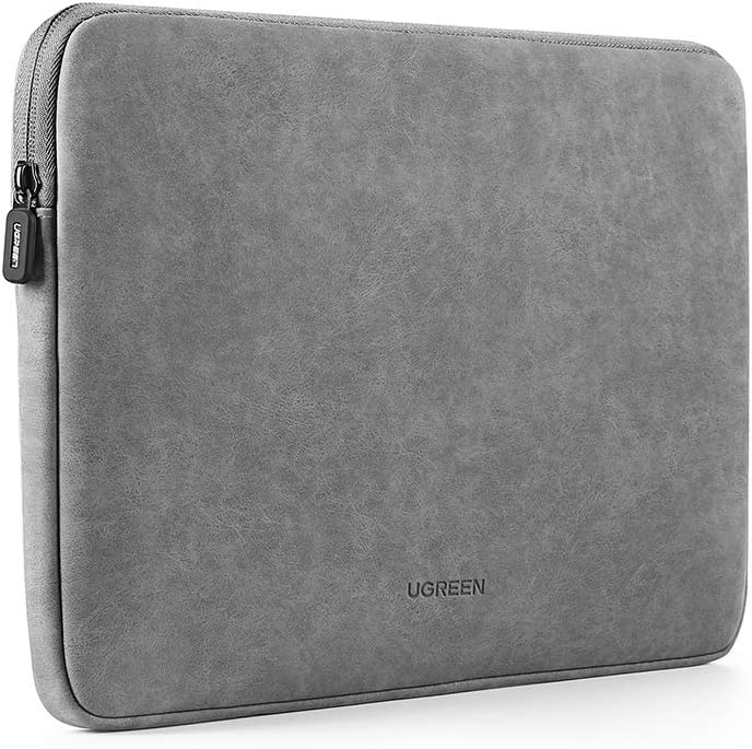 "UGREEN 13.3 Inch Laptop Case, PU Suede Leather Soft Padded Zipper Cover Sleeve Case Compatible with 2018 2020 MacBook Air, 2017 2019 MacBook Pro 13"", iPad Pro, Microsoft Surface, Samsung, Dell, HP"