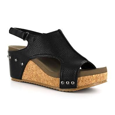 Corkys London Women's Sandal 6 B(M) US Black