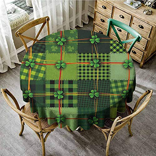 Machine washable round tablecloth 55