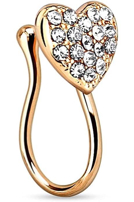 Amazon.com: Covet Jewelry - Piercing de clip para septo ...