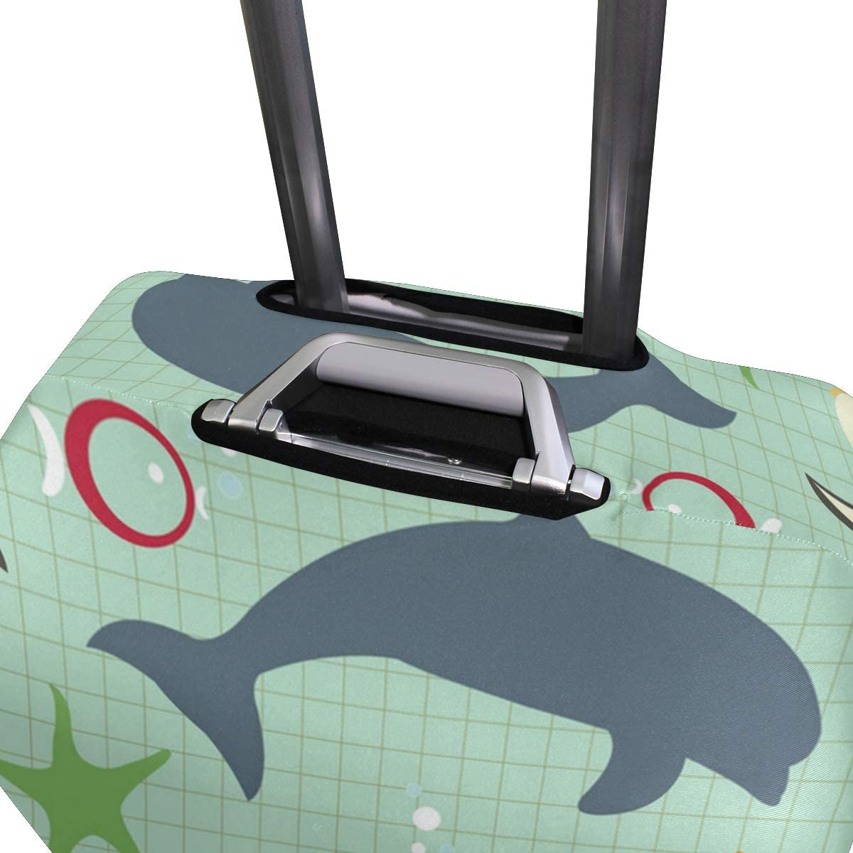 Natural Animal Shark Penguin Travel Luggage Protector Case Suitcase Protector For Man/&Woman Fits 18-32 Inch Luggage