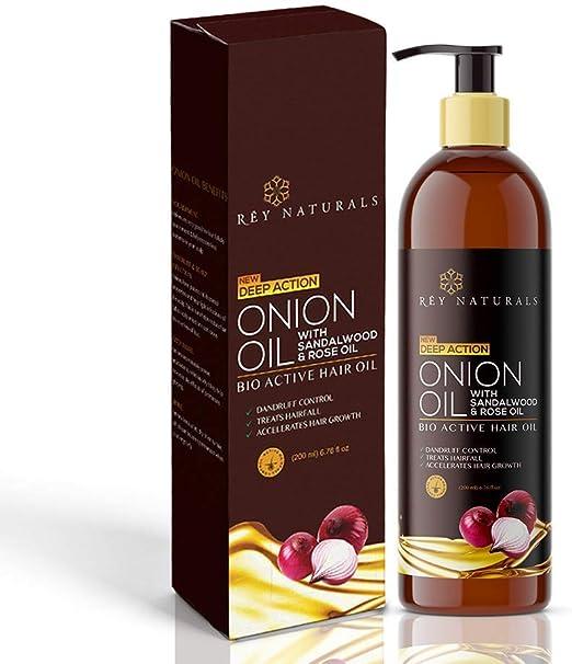 Rey Naturals - Tratamiento nutritivo para el cabello con extracto de cebolla real, aceite para el cabello unisex, 200 ml: Amazon.es: Belleza