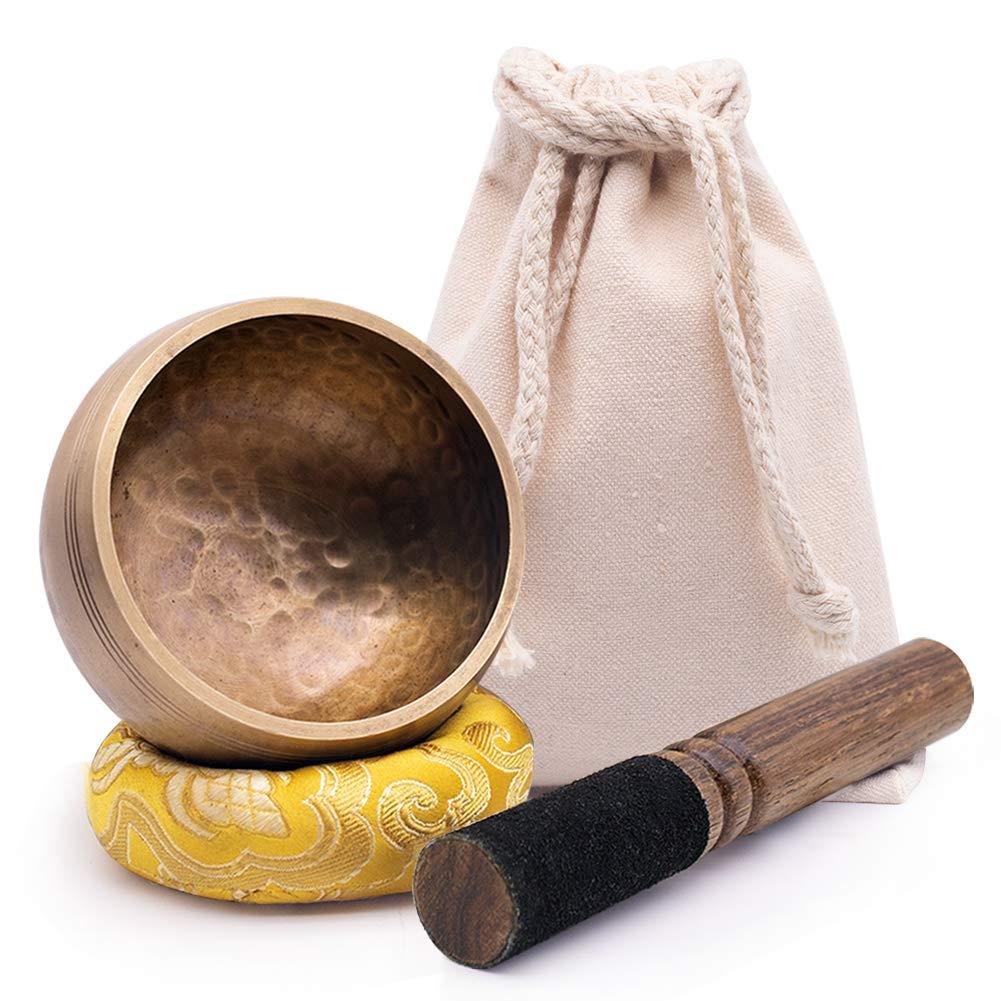 DomeStar Tibetan Singing Bowl Set Meditation Bowl by DomeStar