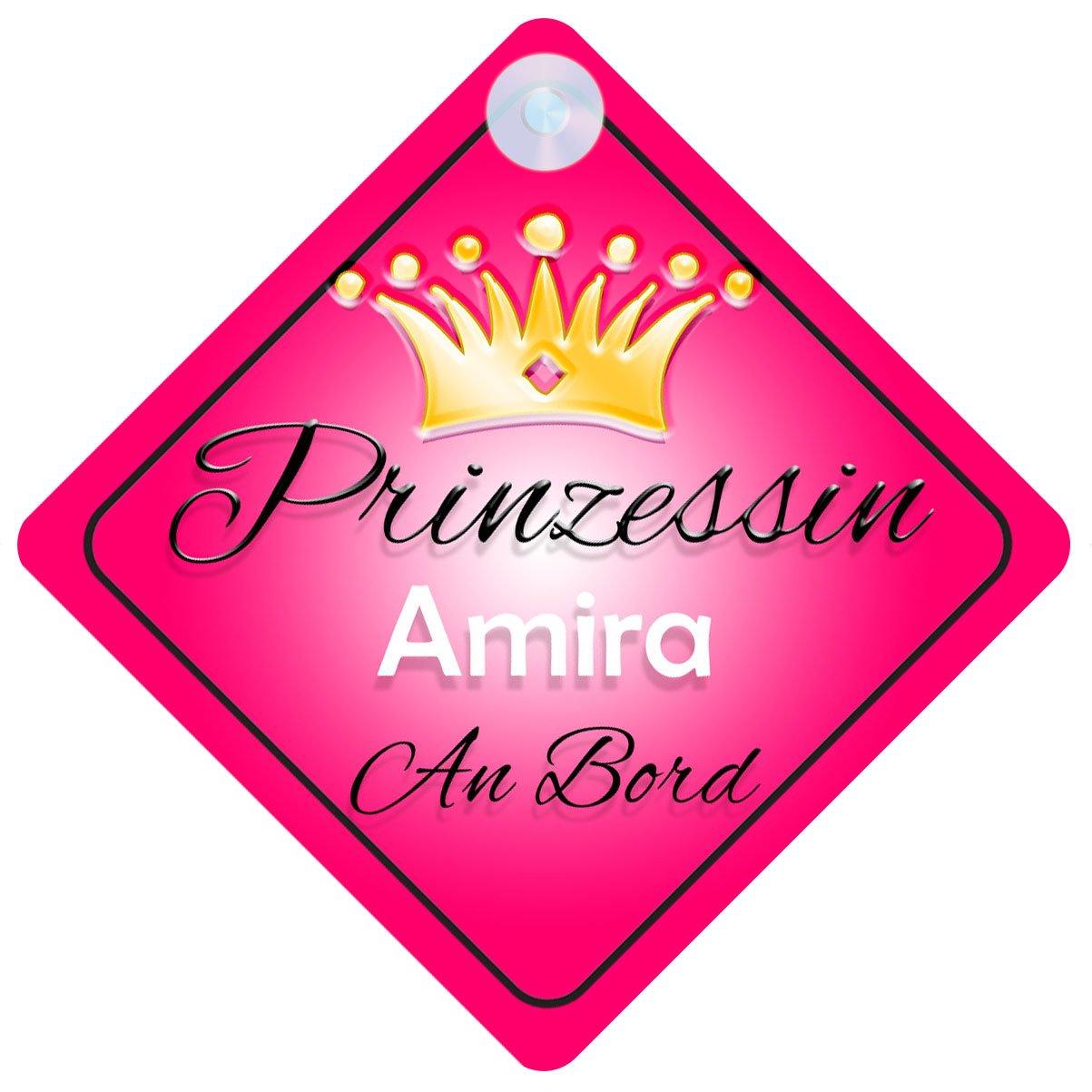 Kind an Bord M/ädchen Auto-Zeichen Prinzessin001 Prinzessin Amira Baby