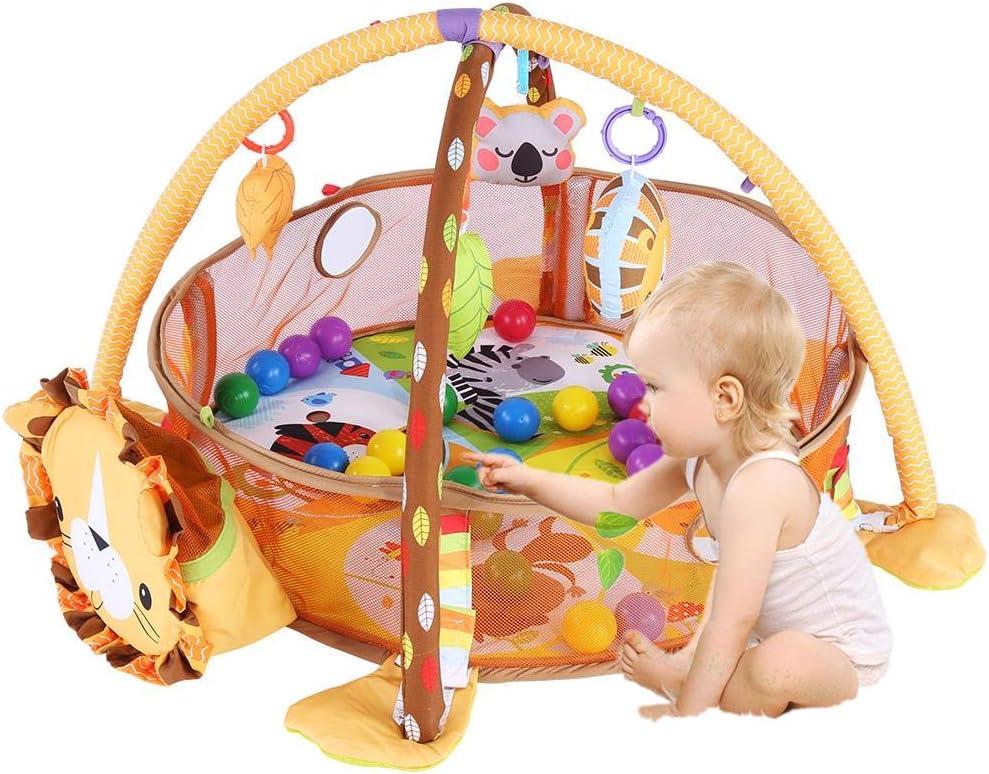 sonido y juguetes educativos. Animal m/úsica Zinsale 4 en 1 Grande Reci/én nacido Beb/é Estera de juego Gimnasio para bebes Alfombras de juego Estera de arrastre acolchada con Centro de actividades