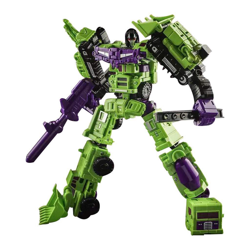 Siyushop 6 en 1 Robot de Juguete, Modelo de Robot de Combate, Conjunto de vehículos de construcción, Juguete de deformación para niños