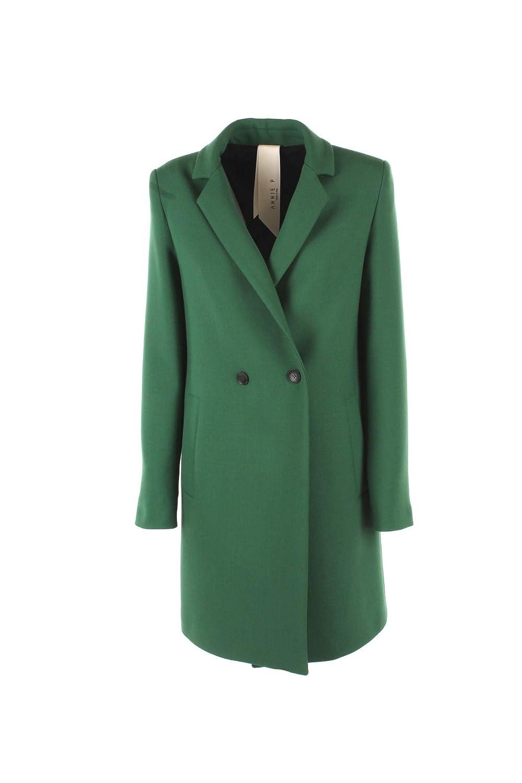ANNIE P. Cappotto Donna 46 Verde Cap MIA Amburgo Autunno Inverno 2018/19