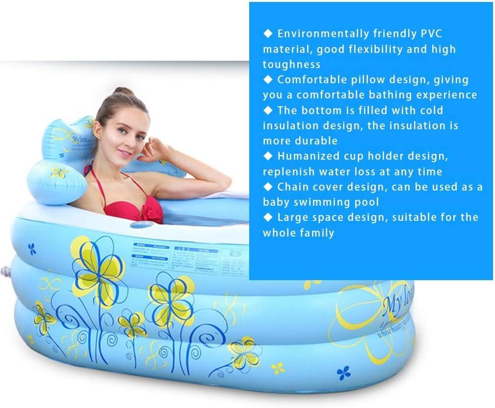 Color : Blue, Size : 130 * 75 * 90cm Brausen /& Duschen Aufblasbare Badewanne Klappbadewanne For Den Hausgebrauch Kinderbadewanne Aus Kunststoff Umweltfreundlicher Aufblasbarer Badeeimer