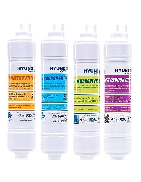 Juego Filtros dispensador by Hyundai waco. con Repuesto a 12 Meses (sedimento + pre