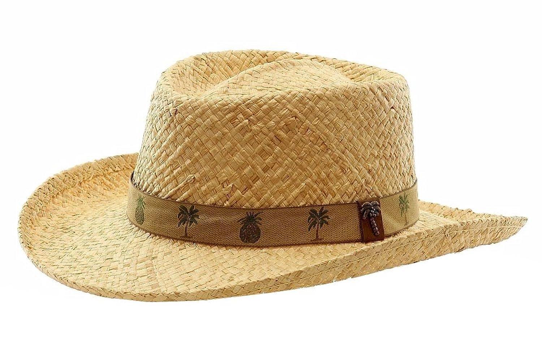 4831e3fa8 Greg Bourdy Scala Mens Raffia Gambler Hat