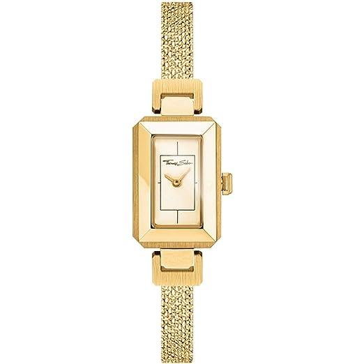 Thomas Sabo Mujer-Reloj para señora Mini Vintage oro Análogo Cuarzo WA0299-291-202-38 mm: Amazon.es: Relojes