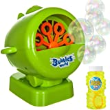 Fineway. Portable Bubble Machine – 500 Bubbles Per Minute Colourful Spinning Blower, Ideal for Kids Birthday Parties, BBQs, Toy for Boys Girls Children With 4Oz Solution Included (Jet Bubble Machine)