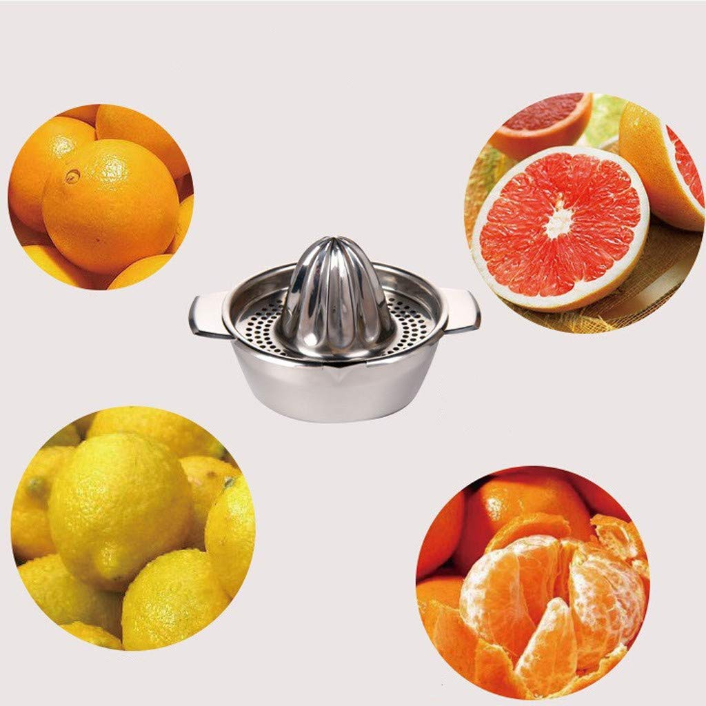 Manual Fruit Squeezer Presser,Metal Lemon Orange Squeezer Juicer Hand Manual Presser Juice Cup Orange Lemon Fruit Extractor 10 x 18 x 13 cm