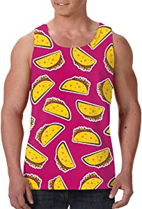 SHARP-Q Soft Taco Men Tank Vest Man Funny Tank Tops