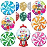 Sweet Candy Crush Happy Birthday Party Balloons Decorations Bouquet Set