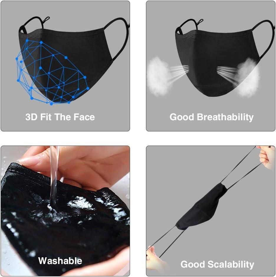 3 piezas con 6 piezas filtros C/ómodamente a prueba de polvo reutilizable y lavable