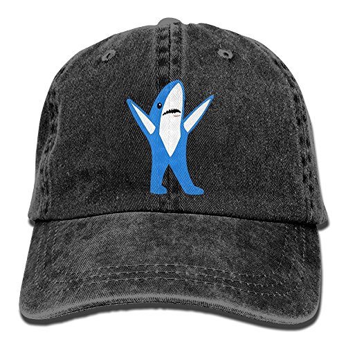 Arsmt Left Hand Shark Denim Hat Adjustable Women Mini Baseball (Horizontal Left Mount)