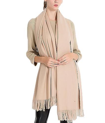 GTKC Donne di Colore Solido ispessimento Caldo Imitazione Cashmere Nappe Sciarpa Color 6