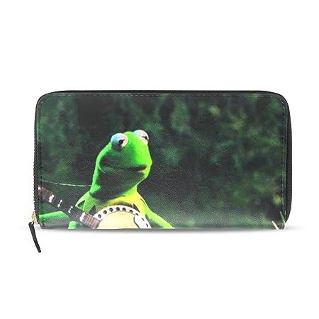 Funny Frog Play The Guitar - Funda de Piel con Tarjetero y ...