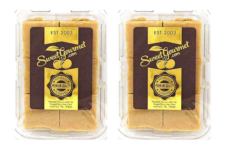 SweetGourmet Premium No Sugar Peanut Butter Fudge | Diabetic Safe, Sucralose | Low Net Carbs | Pack of 2 Boxes | 24oz by SweetGourmet