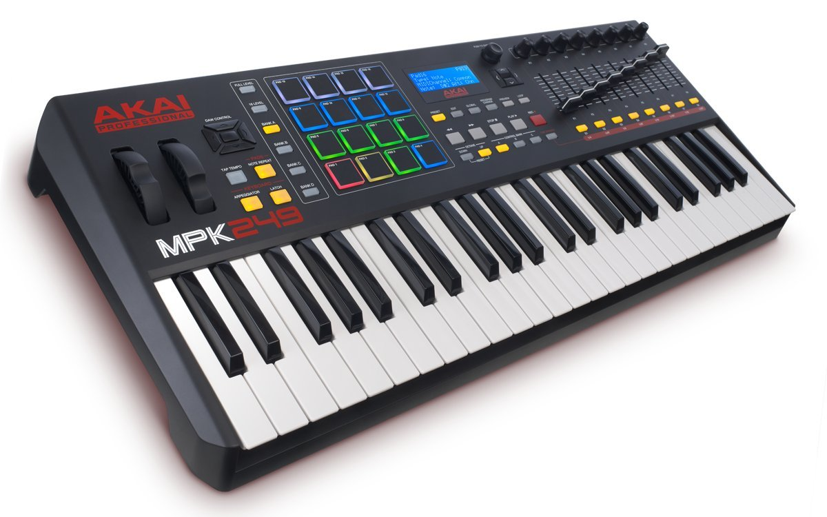 Akai Professional MPK249 | 49 Key Semi Weighted USB MIDI Keyboard Controller Including Core Control From The MPC Workstations by Akai Professional