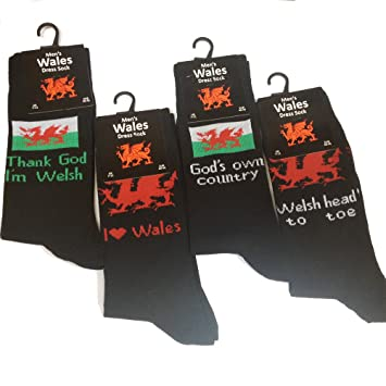 Welsh flag wales slogan gents socks 3pk Amazoncouk Garden