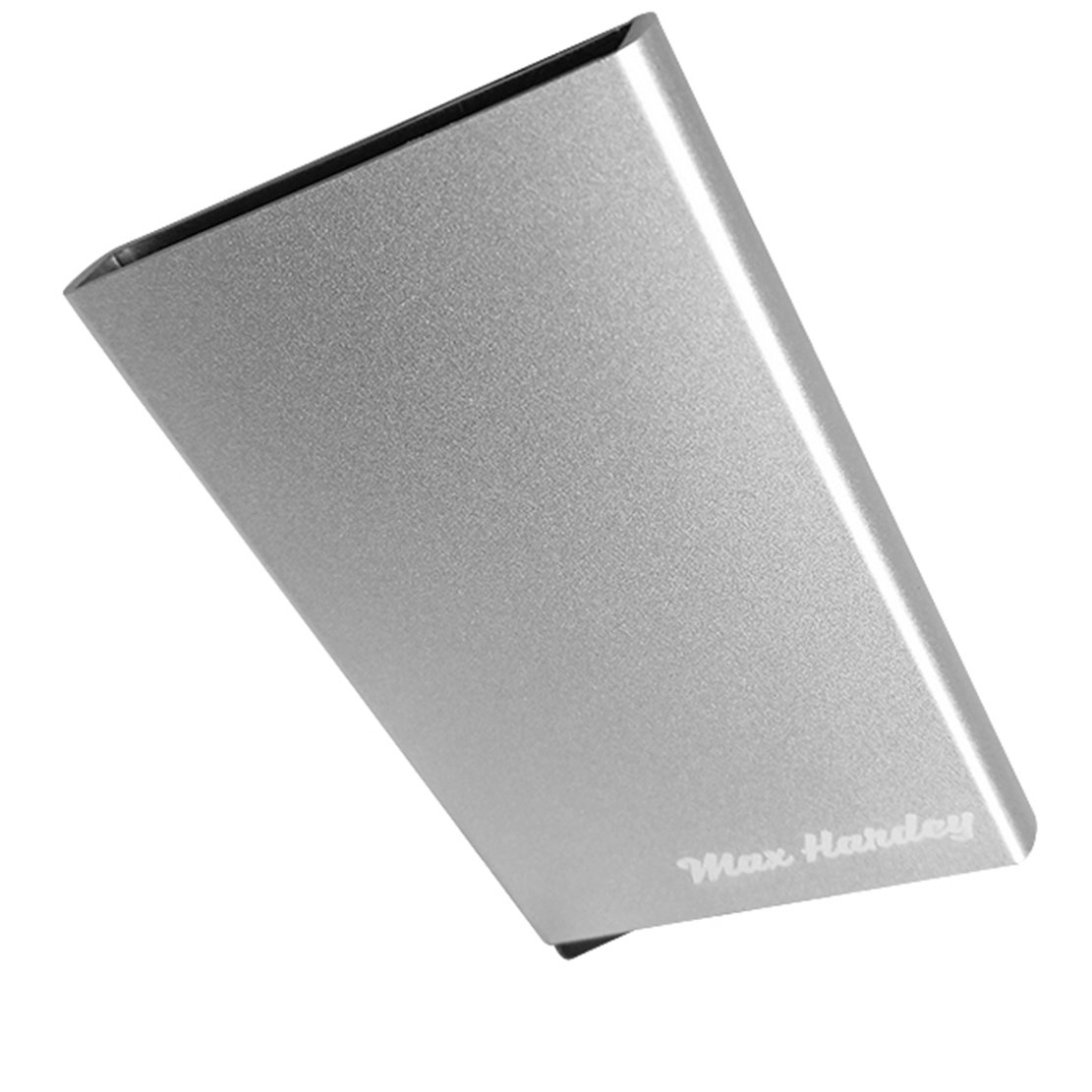 Minimalist slim RFID wallet credit card holder. Aluminium automatic pop-up wallets for men (Silver slim rfid blocking wallet)