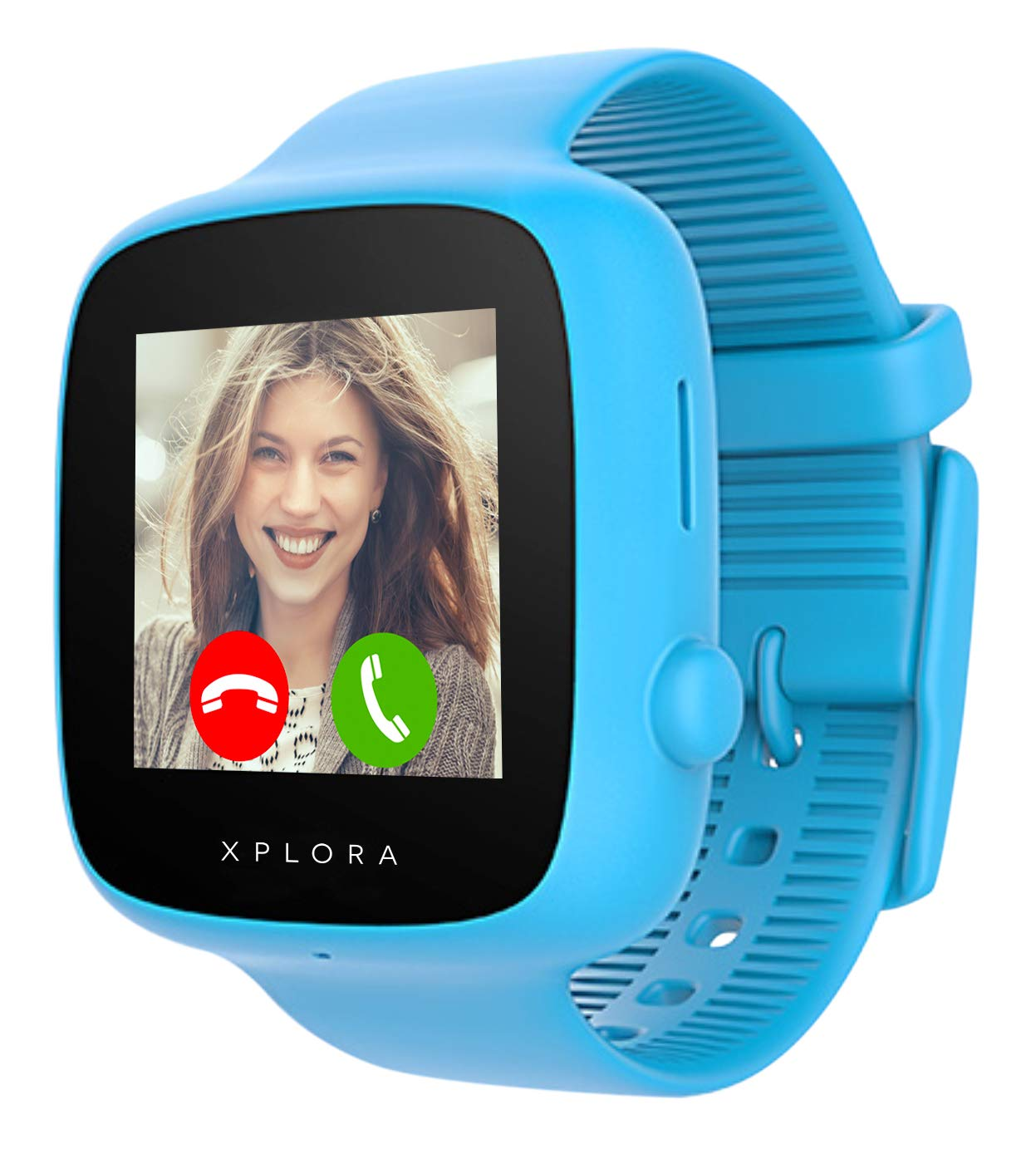 XPLORA GO - Watch Phone for children (SIM Free) - Calls, Messages, Kids School Mode, SOS function, GPS Location, Camera and Pedometer - Includes 2 Year Warranty (BLUE)