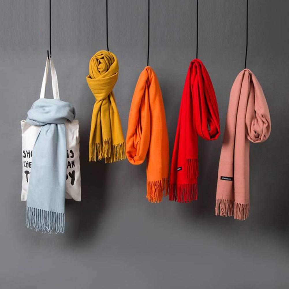 Good dress Sweet Tassels Cgreymere Women and Warm Natural Color Long Otoño and Women Invierno Outdoor Multi-Functional Fgreyion Trend Wild Warm Shawl Scarf Gift, Wine Rojo 0ff1a9