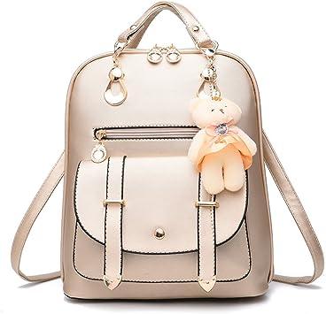 Damen Freizeit Kunstleder Rucksack Mini Reiserucksack Handtasche Schultertaschen