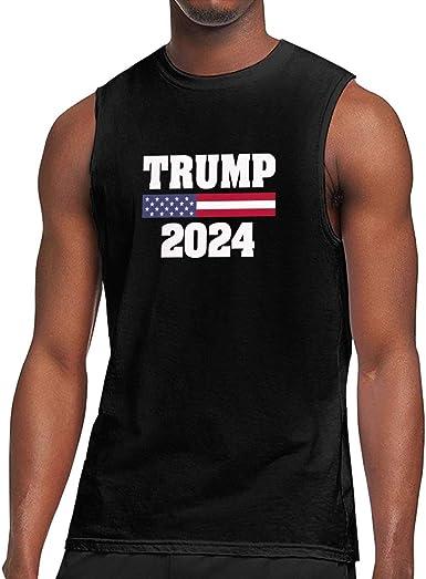 Men/'s Trump For President 2016 White T-Shirt Tank Top Gym Workout US Politics