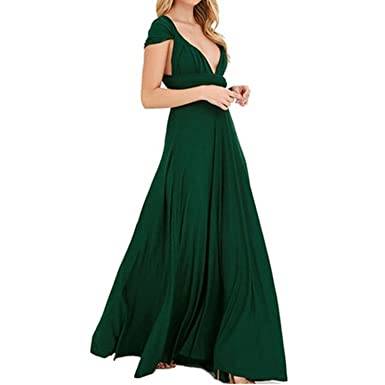 bfebe1f002c Image Unavailable. Image not available for. Color  Colorful-Day Long  Convertible Bohemian Casual Bandage Party Infinity Multiway Maxi Dresses ...