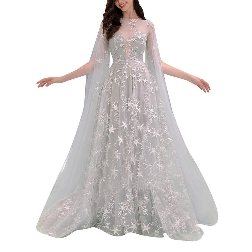 ZHENBAO Women's Wedding Dress Tulle Long Beach Wedding Dresses for Bride White