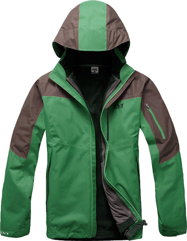 ADS Men's 3-in - 1, windabweisend, leichter Reise-Mountain-Ski-Jacke Full Zip, Asien, Größe