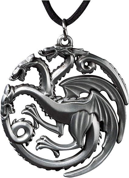 Game of Thrones Jewellery Targaryen Dragon Antique Silver Pendant Necklace