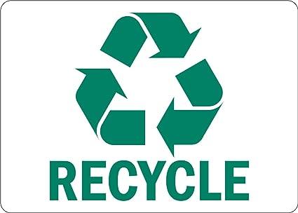 smartsign adhesive vinyl label legend recycle with graphic 3 5