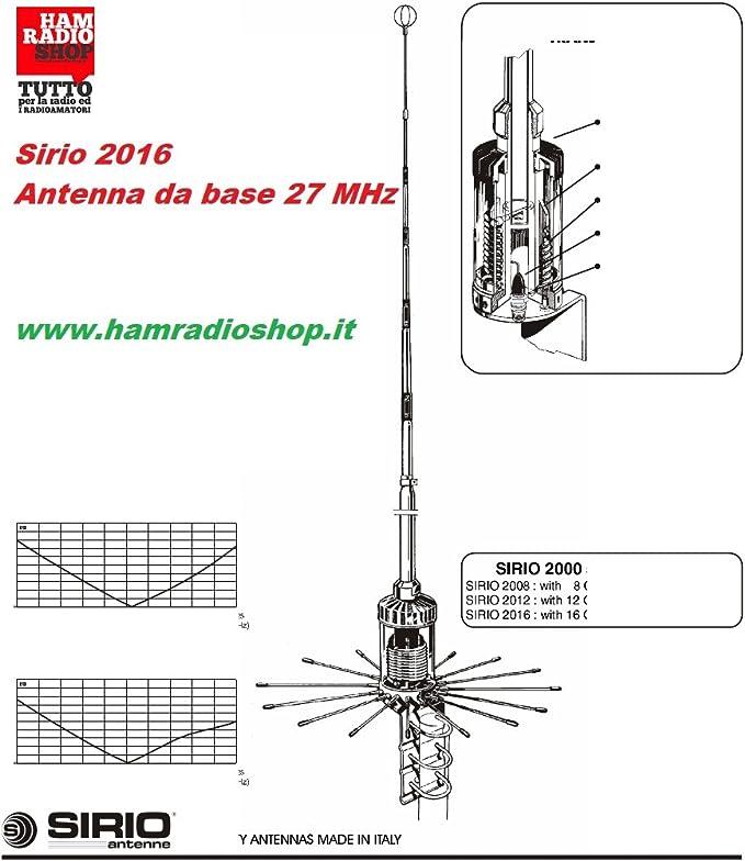 SIRIO 2016 antena CB estación BASE VERTICAL